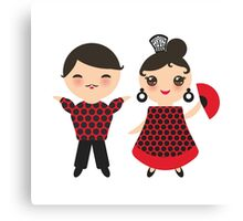 Flamenco boy and girl 2 Canvas Print