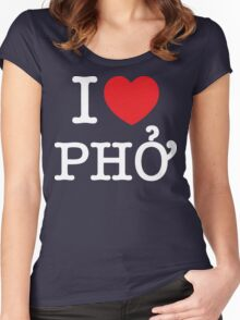 I Heart (Love) Phở Women's Fitted Scoop T-Shirt