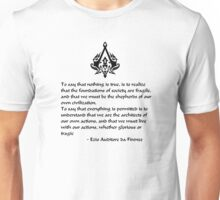 Nothing is True, Everything is Permitted (Black Lettering) Unisex T-Shirt
