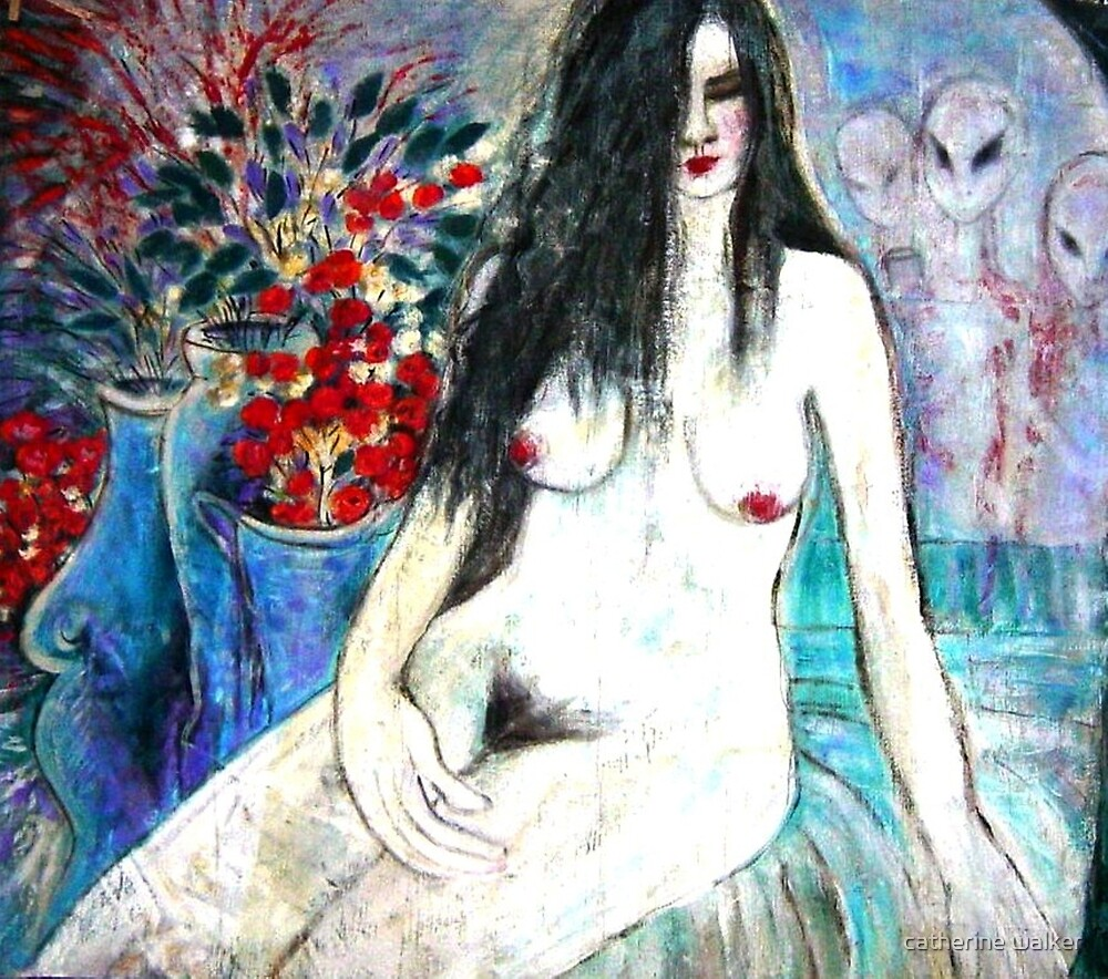 Nude with Aliens by catherine walker