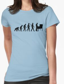 Funny Evolution Of Pinball Womens Fitted T-Shirt
