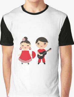 Flamenco boy and girl 3 Graphic T-Shirt