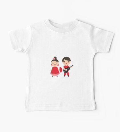 Flamenco boy and girl 3 Baby Tee