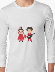 Flamenco boy and girl 3 Long Sleeve T-Shirt