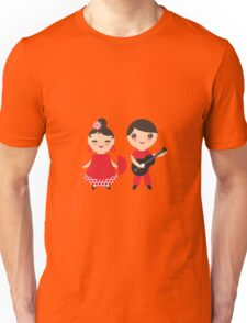 Flamenco boy and girl 3 Unisex T-Shirt