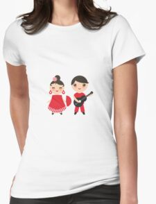 Flamenco boy and girl 3 Womens Fitted T-Shirt