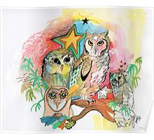 Owls and Stars Poster