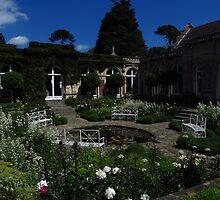 Sunken White Garden, Somerleyton Hall by wiggyofipswich