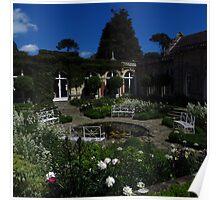 Sunken White Garden, Somerleyton Hall Poster