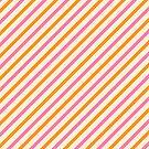 Stripes Diagonal Orange Pink Peach Simple Modern by Beverly Claire Kaiya