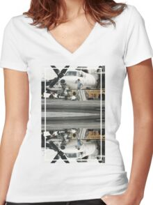 CRA Flight Deck 1  Women's Fitted V-Neck T-Shirt
