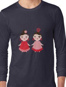 Flamenco girls Long Sleeve T-Shirt