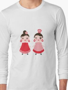 Flamenco girls Long Sleeve T-Shirt