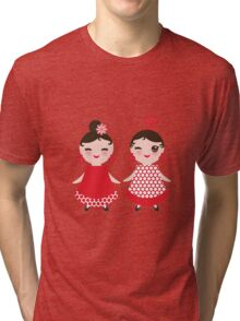 Flamenco girls Tri-blend T-Shirt