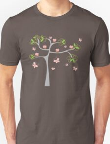 Whimsical Pink Cupcakes Tree Unisex T-Shirt