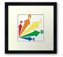 all signs point to... pride! Framed Print