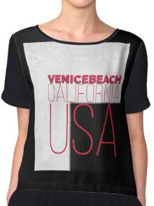 VENICE BEACH CALIFORNIA USA Chiffon Top