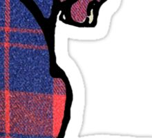 Plaid Cat Sticker