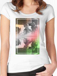 CRA Flight Deck 2 Multi Women's Fitted Scoop T-Shirt