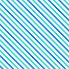Stripes Diagonal Turquoise Blue Summer Simple Modern by Beverly Claire Kaiya