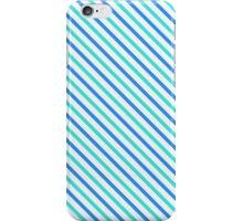 Stripes Diagonal Turquoise Blue Summer Simple Modern iPhone Case/Skin