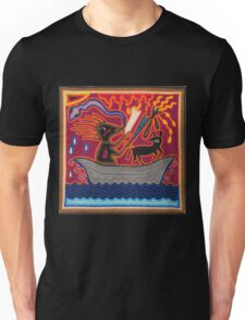 Mexican Folk Art - Boat, dog, snake Unisex T-Shirt
