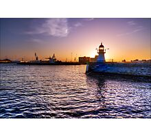 Sunrise Lighthouse.  Photographic Print