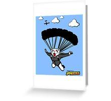 Skydiving Ferret  Greeting Card