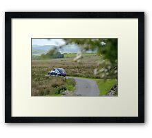 The Three Castles Welsh Trial 2014 - Volvo PV544 Framed Print
