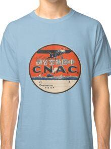 Vintage CNAC Luggage Label Classic T-Shirt