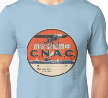 Vintage CNAC Luggage Label Unisex T-Shirt