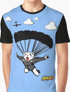 Skydiving Ferret  Graphic T-Shirt