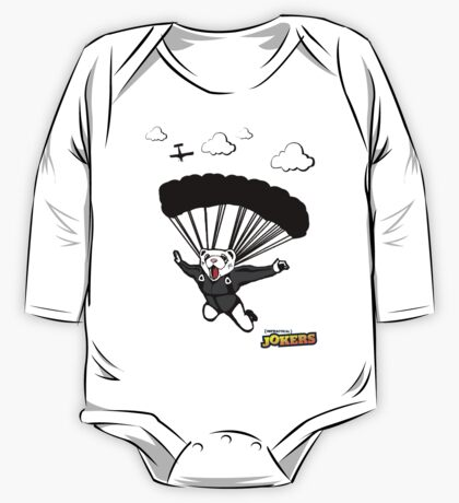 Skydiving Ferret  One Piece - Long Sleeve