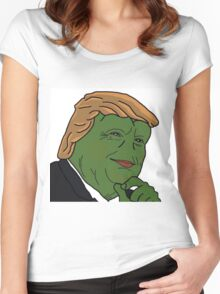 Trump Pepe Women's Fitted Scoop T-Shirt