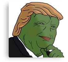 Trump Pepe Metal Print