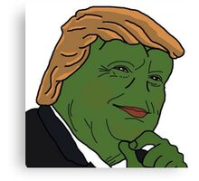 Trump Pepe Canvas Print