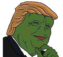 Trump Pepe Photographic Print