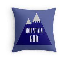 Mountain God Throw Pillow