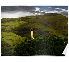 The Wallace Monument , Scotland Poster