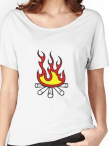 Feuer holz lagerfeuer  Women's Relaxed Fit T-Shirt