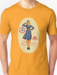 Vintage TWA Luggage Label Unisex T-Shirt