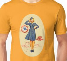 Vintage TWA Luggage Label Unisex T-Shirt