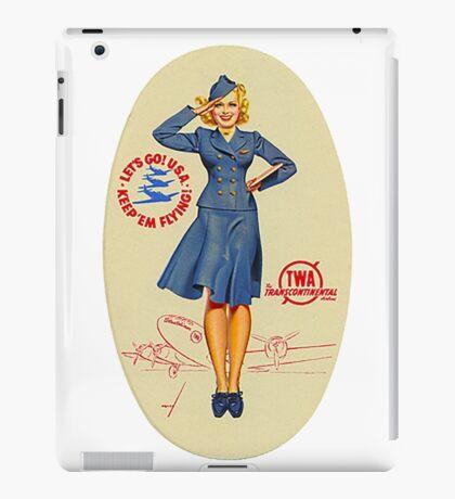 Vintage TWA Luggage Label iPad Case/Skin