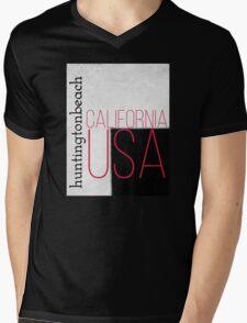 huntington beach California USA Mens V-Neck T-Shirt
