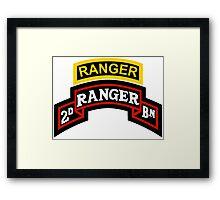 2nd Ranger +tab Framed Print