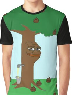Pepe Piss and Poop tree Graphic T-Shirt