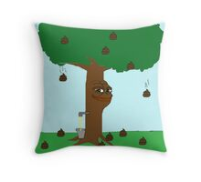 Pepe Piss and Poop tree Throw Pillow
