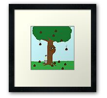 Pepe Piss and Poop tree Framed Print