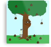 Pepe Piss and Poop tree Metal Print