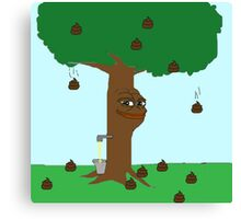 Pepe Piss and Poop tree Canvas Print